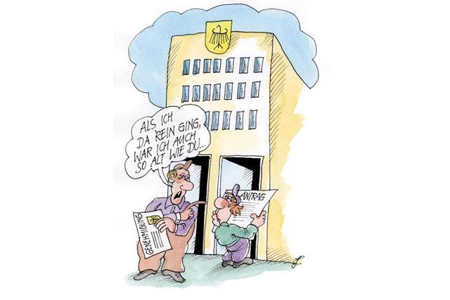 Karikatur zum Beitrag Antrag Genehmigung