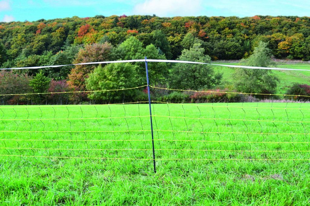 Zaun mit Flatterband