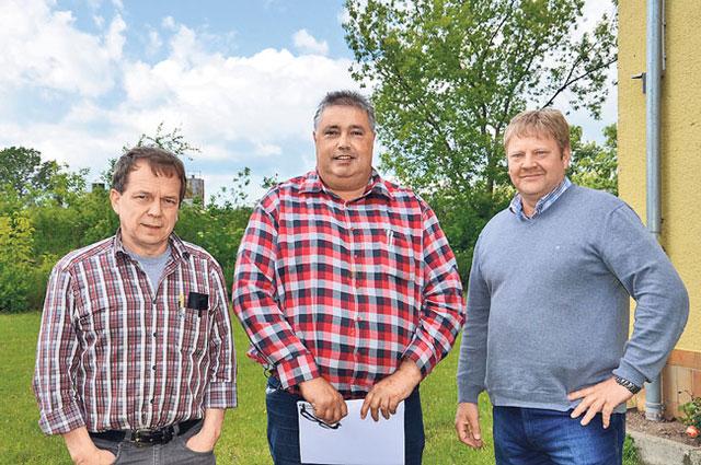 Lutz Trautmann, Axel Spengler und Carsten Steinke (v. l.).