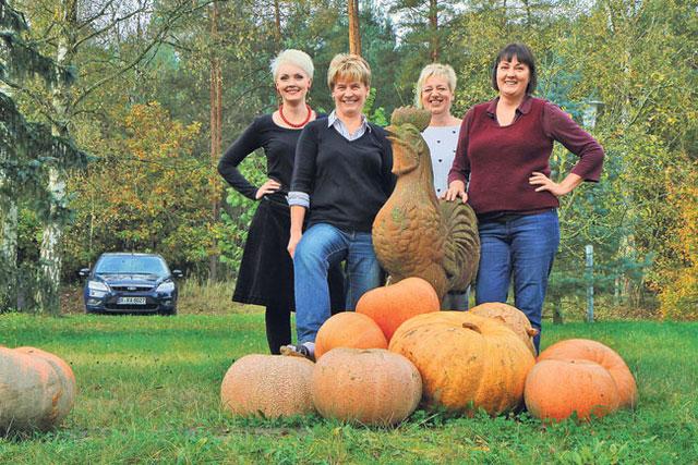 Beelitzer Frischei eG Team: (v.l.) Susanne Kimmel, Ute Sens, Angela Münzberg und Sabine Kimmel.