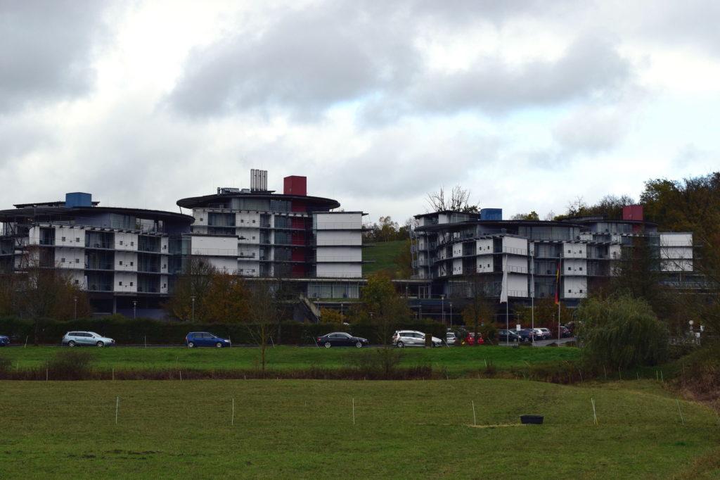 Blick auf die Kurklinik von Bad Collberg