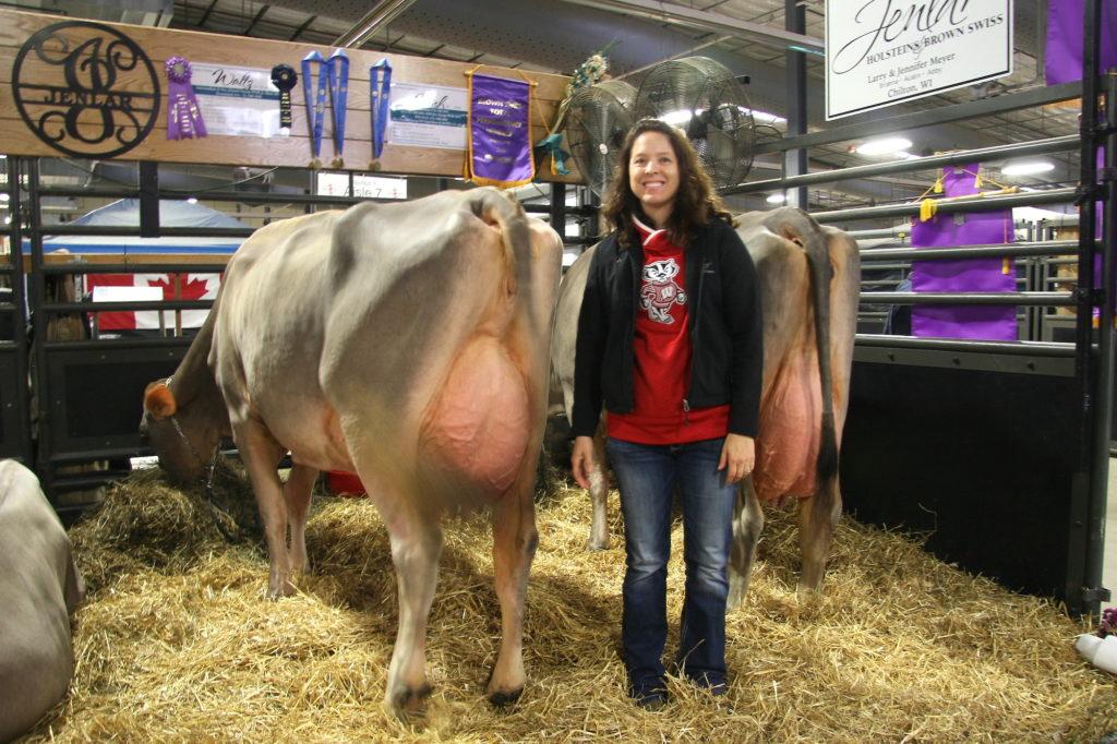 Jennifer Meyer aus Winconsin mit ihrer preisgekrönten Kuh