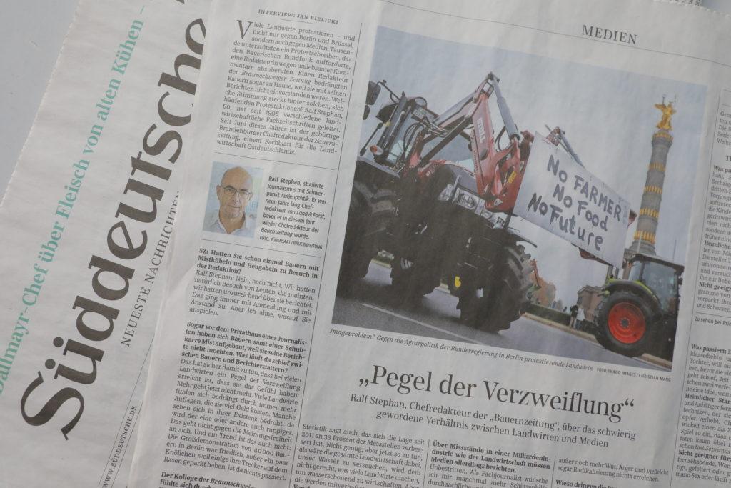 Das Interview erschien am 23. Dezember 2019 auf der Medienseite der Süddeutschen Zeitung.