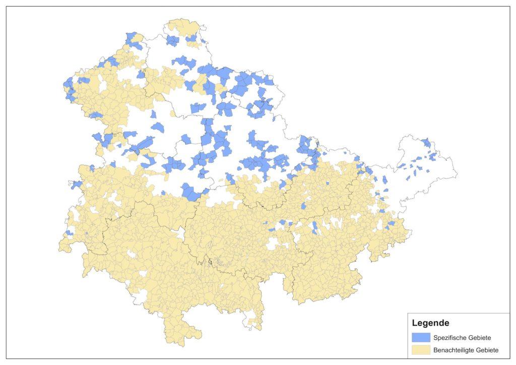 Beihilfen Thüringen - Karte