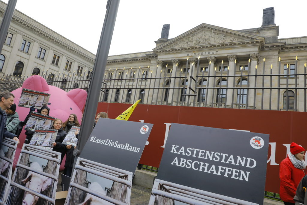 Auch Tierschützer protestierten. Ihnen geht der Verordnungsentwurf nicht weit genug. (c) Sabine Rübensaat