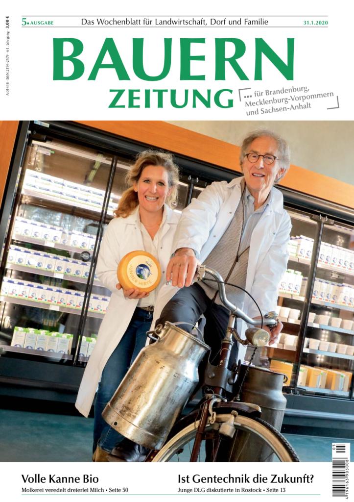Der Titel der Bauernzeitung Ausgabe 5/2020