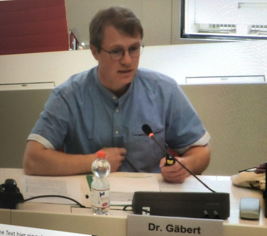 Dr. Thomas Gäbert, agt Trebbin, im Landtag Potsdam