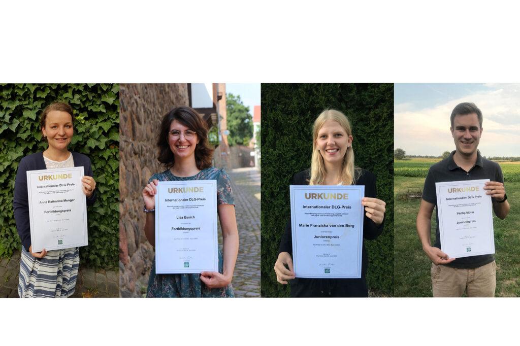 Die Preisträger des internationalen DLG-Preises (v. l.): Anna Katharina Menger, Lisa Essich, Marie van den Berg und Phillip Müter.