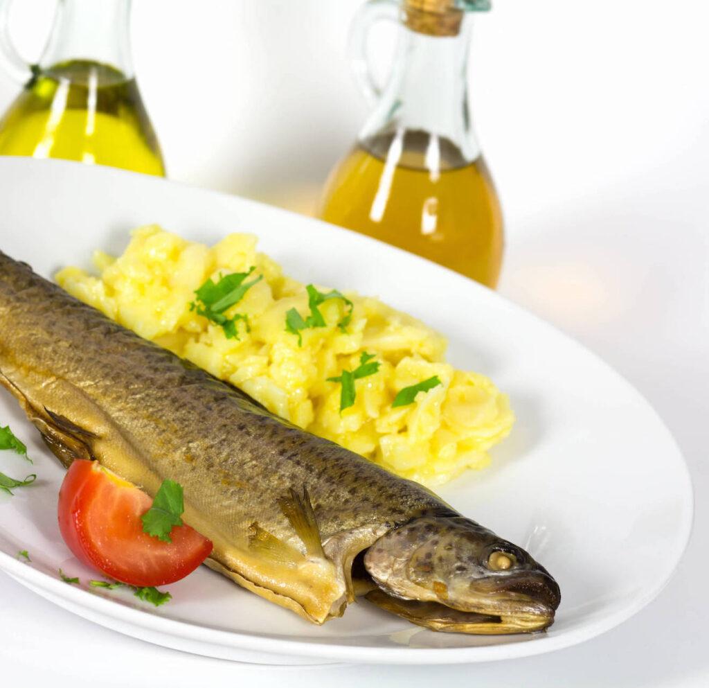 Kartoffelsalat zum Fisch - Rezept