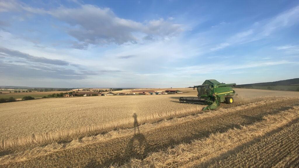 Weizenernte im Landwirtschaftsbetrieb Schröter (c) Pascal Schröter