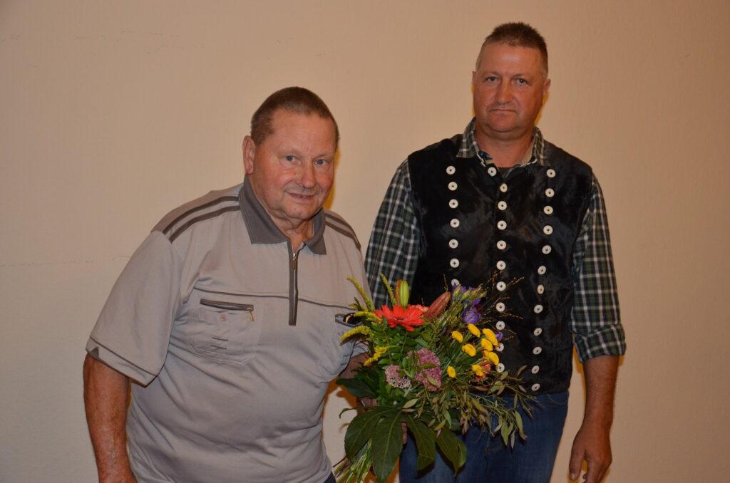 Alter und neuer Vorsitzender des Landesschafzuchtverbandes Sachsen-Anhalt: Klaus Gerstenberg und Mario Wehlitz.