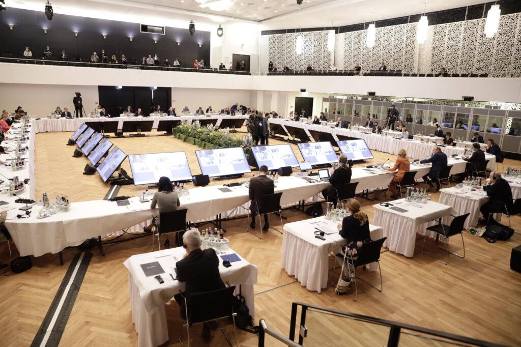 Bundeslandwirtschaftsministerin Julia Klöckner beim Informellen Rat der EU-Agrarminister in Koblenz. (c) imago images / photothek