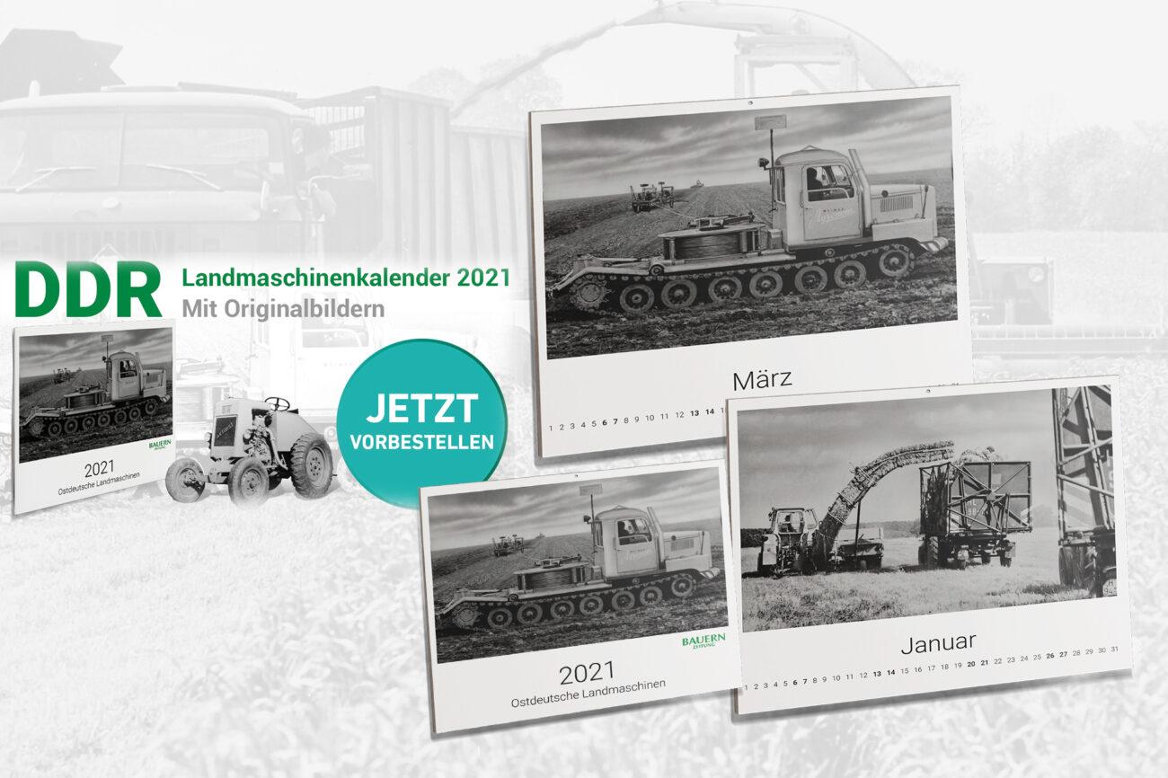 DDR Landmaschinen Kalender 2021