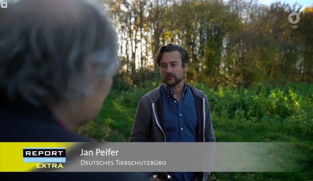 Jan Peifer vom Deutschen Tierschutzbüro im Report Mainz